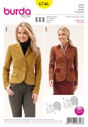 Burda Ladies Sewing Pattern 6746 Fitted Jackets in 2 Styles