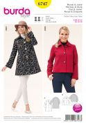 Burda Ladies Sewing Pattern 6747 Jackets in 2 Styles