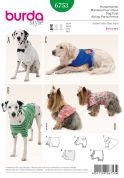 Burda Pets Easy Sewing Pattern 6753 Dog Coats in 5 Styles