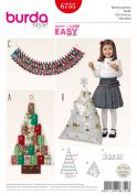 Burda Crafts Easy Sewing Pattern 6755 Christmas Decorations
