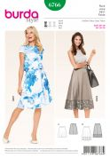 Burda Ladies Easy Sewing Pattern 6766 Simple Skirts in 2 Lengths