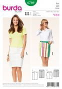 Burda Ladies Sewing Pattern 6769 Straight Fitted Skirts