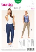 Burda Ladies Easy Sewing Pattern 6770 Capri Summer Trousers