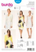 Burda Ladies Easy Sewing Pattern 6773 Fitted Dresses & Cropped Jackets
