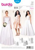 Burda Ladies Sewing Pattern 6776 Wedding Dresses & Underskirt