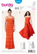 Burda Ladies Sewing Pattern 6778 Full Length Fancy Evening Dresses