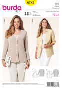 Burda Ladies Plus Size Sewing Pattern 6782 Casual Blazer Jackets