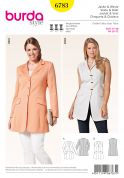 Burda Ladies Plus Size Sewing Pattern 6783 Smart Suit Jacket & Waistcoat