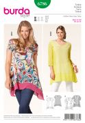 Burda Ladies Plus Size Easy Sewing Pattern 6786 Panelled Tunic Tops