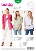 Burda Ladies Plus Size Easy Sewing Pattern 6787 Shirts, Blouses & Jackets