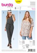 Burda Ladies Plus Size Easy Sewing Pattern 6789 Capri Trousers, Tunic & Top