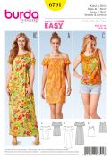 Burda Ladies Easy Sewing Pattern 6791 Vest Top & Summer Dresses