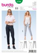 Burda Ladies Sewing Pattern 6798 Fitted Skinny Jeans