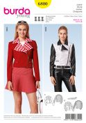 Burda Ladies Sewing Pattern 6800 Short, Fitted Asymmetric Jackets & Belt