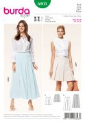 Burda Ladies Sewing Pattern 6803 Pleated Skirts in 2 Lengths