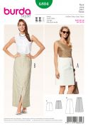 Burda Ladies Sewing Pattern 6804 A Line Skirts in 2 Lengths