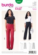 Burda Ladies Easy Sewing Pattern 6817 High Waist Trouser Pants