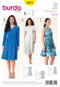 Burda Ladies Easy Sewing Pattern 6821 Princess Seam Dresses