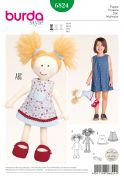 Burda Easy Sewing Pattern 6824 Soft Toy Doll & Dolls Clothes