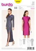 Burda Ladies Sewing Pattern 6830 Chinese Style Dresses in 2 Lengths