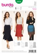 Burda Ladies Easy Sewing Pattern 6834 Straight & Fancy Skirts in 3 Styles
