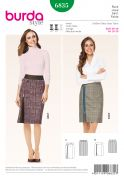 Burda Ladies Sewing Pattern 6835 Fitted Pencil Skirts with Side Zip Detail