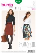Burda Ladies Easy Sewing Pattern 6836 A Line Skirts with Pleat Detail