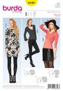 Burda Ladies Easy Sewing Pattern 6848 Stretch Knit Tops & Dress