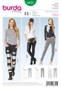 Burda Ladies Sewing Pattern 6855 Skinny Fit Jeans in 3 Styles