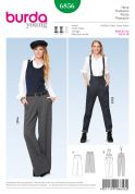 Burda Ladies Sewing Pattern 6856 Trousers in 2 Styles & Braces