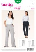 Burda Ladies Plus Size Easy Sewing Pattern 6859 Elastic Waist Trousers