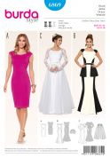 Burda Ladies Sewing Pattern 6869 Wedding Dress & Evening Dresses