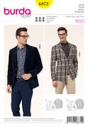 Burda Mens Sewing Pattern 6872 Smart Fitted Jackets