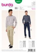 Burda Mens Sewing Pattern 6873 Smart Trouser Pants