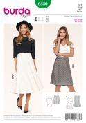 Burda Ladies Easy Sewing Pattern 6880 Panelled Skirts in 2 Styles