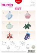 Burda Homeware Easy Sewing Pattern 6884 Novelty Shape Pot Holders