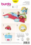 Burda Baby Easy Sewing Pattern 6885 Playmat, Toy, Fabric Basket & Cushion
