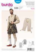 Burda Mens Sewing Pattern 6888 Historical Soldier Fancy Dress Costume