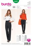 Burda Ladies Petite Size Sewing Pattern 6889 Trouser Pants in 2 Styles