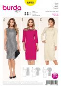 Burda Ladies Petite Size Sewing Pattern 6890 Simple Fitted Dresses