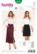 Burda Ladies Sewing Pattern 6895 Straight Skirts with Split