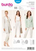 Burda Ladies Easy Sewing Pattern 6898 Trouser Pants & Jacket Suits