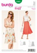Burda Ladies Easy Sewing Pattern 6903 Gored Summer Skirts