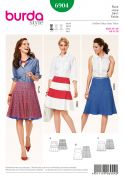 Burda Ladies Easy Sewing Pattern 6904 Panelled Swing Skirts