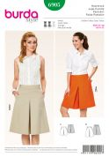 Burda Ladies Sewing Pattern 6905 Box Pleat Pant Skirt in 2 Lengths
