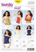 Burda Ladies Easy Sewing Pattern 6925 Summer Tops & Boleros