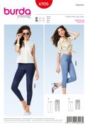 Burda Ladies Easy Sewing Pattern 6926 Denim look Jeggings Leggings