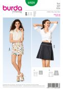 Burda Ladies Easy Sewing Pattern 6928 Straight & Flared Skirts