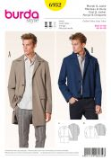 Burda Mens Sewing Pattern 6932 Classic Coats & Jackets
