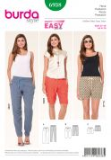 Burda Ladies Easy Sewing Pattern 6938 Casual Trouser Pants & Shorts